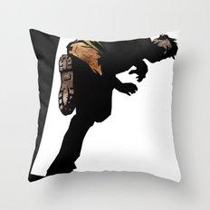 RUN ZOMBIE RUN! Throw Pillow