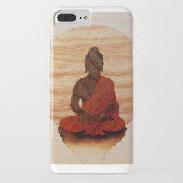 Buddha marquetry iPhone Case