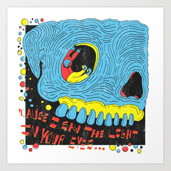 The Eye X Tod Rudgren Art Print