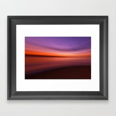 warm colours for cold day Framed Art Print