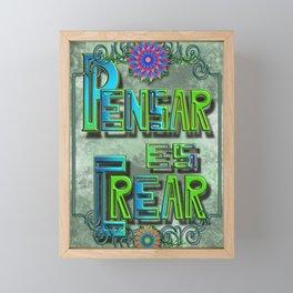 Pensar es crear 01 S6 Framed Mini Art Print