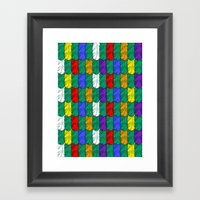 Feathers Pattern Framed Art Print