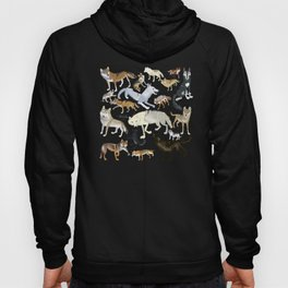 Wolves of the World Green pattern Hoody