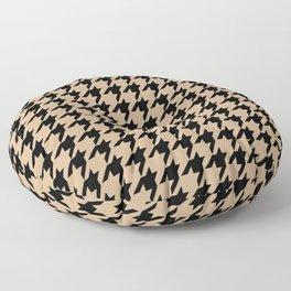 Houndstooth (Black & Tan Pattern) Floor Pillow