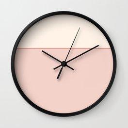 Subtle Spring Color Block Wall Clock