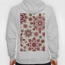 Floral pattern with stylized snowflakes. Christmas winter snow theme pattern. Hoody