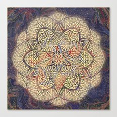 Gold Morocco Lace Mandala Canvas Print