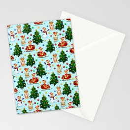 Blue Christmas - From Corgis, Santa And Christmas Trees Stationery Cards
