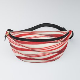 Candy Cane Pattern Fanny Pack