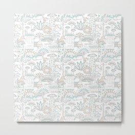 Baobab safari party pattern Metal Print