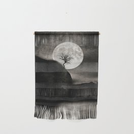 The Moon and the Tree.. Wall Hanging