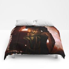 Wonderful steampunk lady Comforters