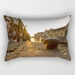 Sunset on the Naviglio Grande in the center of Milan Rectangular Pillow