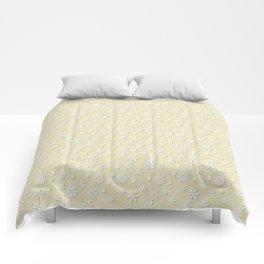 Christmas Eggnog Cream Snow Flakes Comforters