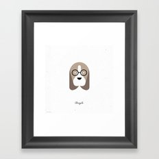 Pedigree: Beagle Framed Art Print