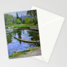 Morning park Stationery Cards