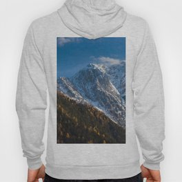 Autumn and winter at snowy mountains Hoody