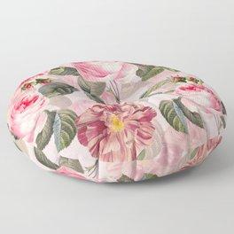 Vintage & Shabby Chic - Summer Roses Flower Garden Floor Pillow