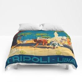 Vintage poster - Tripoli Comforters