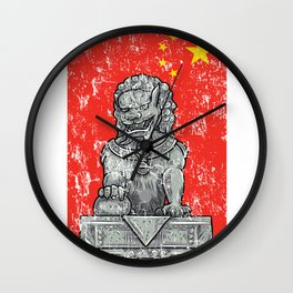 Lion Vintage Statue Wall Clock