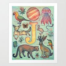 'J' collection Art Print