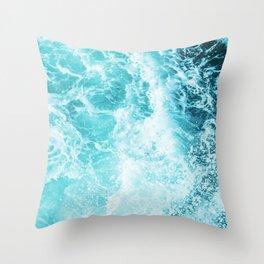 Perfect Sea Waves Throw Pillow