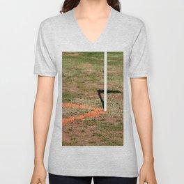 Orange Soccer Corner Unisex V-Neck