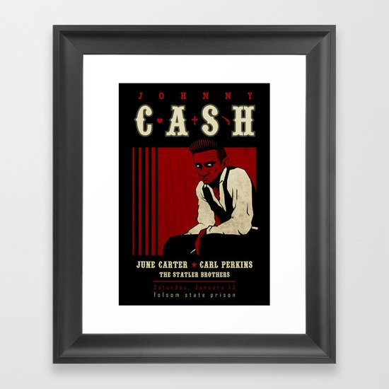 Cash Live at Folsom Prison Framed Art Print