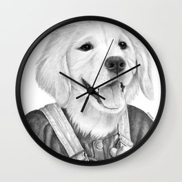 My Boy The Golden Retreiver Wall Clock