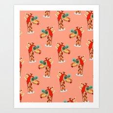 Miss Giraffe Art Print