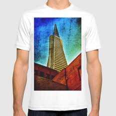 Trance America White Mens Fitted Tee MEDIUM