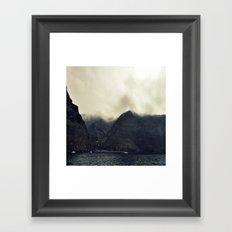 Fog on the mountains Framed Art Print