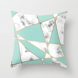 Marble Geometry 055 Throw Pillow