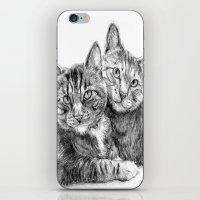 arya stark iPhone & iPod Skins featuring Arya and Dante portrait by Rushelle Kucala Art