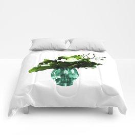 Beautiful Vase Illustration Comforters