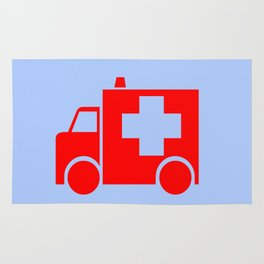 ambulance car illustration Rug