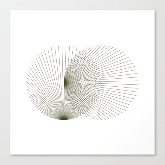 #392 Binocular interference – Geometry Daily Canvas Print