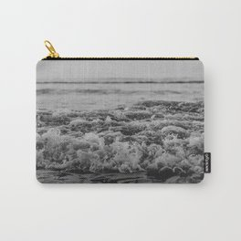 Black and White Pacific Ocean Waves Carry-All Pouch