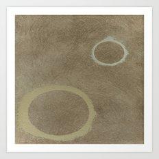 Two Circles - Modern Art - Abstract - Fine Art - California Cool - Popular Painterly Art Print