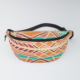 Tribal ethnic geometric pattern 027 Fanny Pack