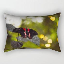 Butterflies + Twinkle Lights 2 Rectangular Pillow
