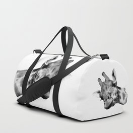 Black and white giraffe Duffle Bag