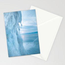 Ice cliff of Lake Baikal Stationery Cards