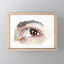 Brown Eye Watercolor Framed Mini Art Print