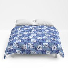 Swanky Mo Blue Comforters