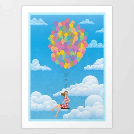 Balloon Girl Art Print