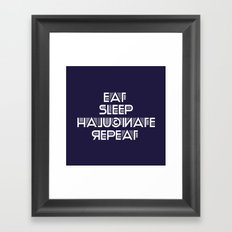Eat Sleep Halucinate Repeat Framed Art Print