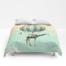 Sticking your neck out, giraffe Comforters
