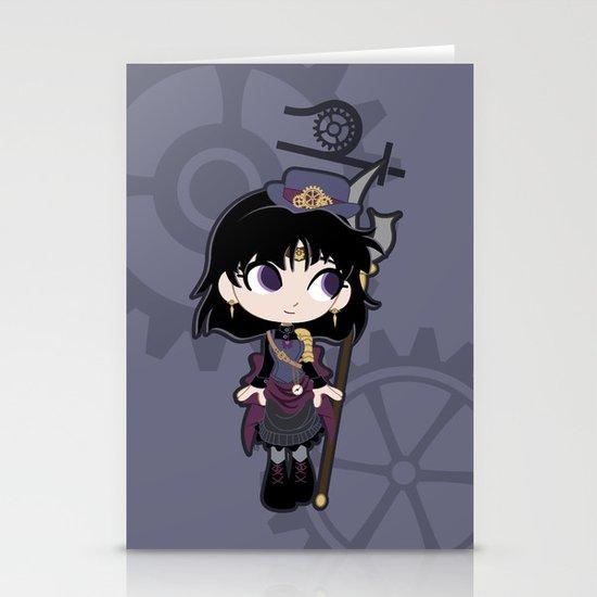 Steampunk Sailor Saturn - Sailor Moon Stationery Cards