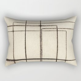 Toner Lines on Paper Rectangular Pillow